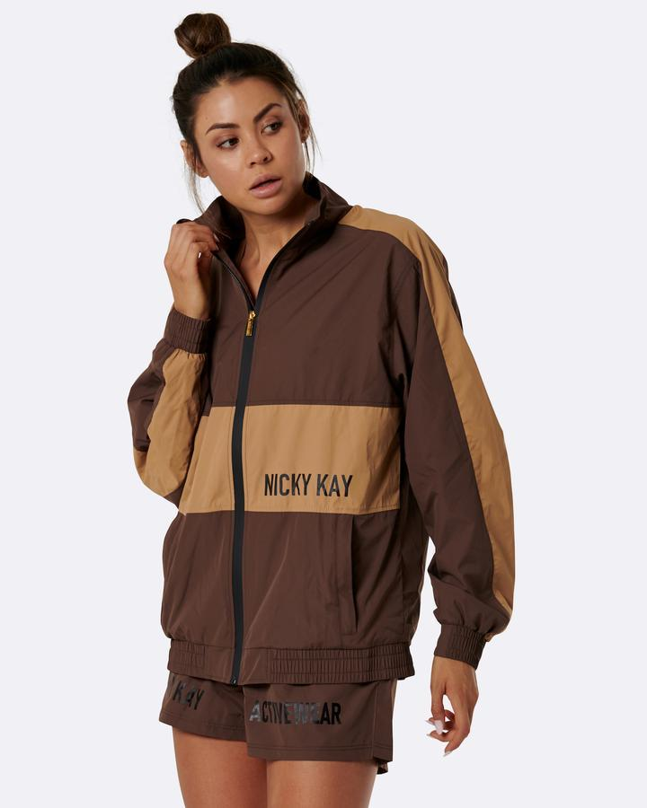 Nicky Kay Two Tone Jacket - Brown