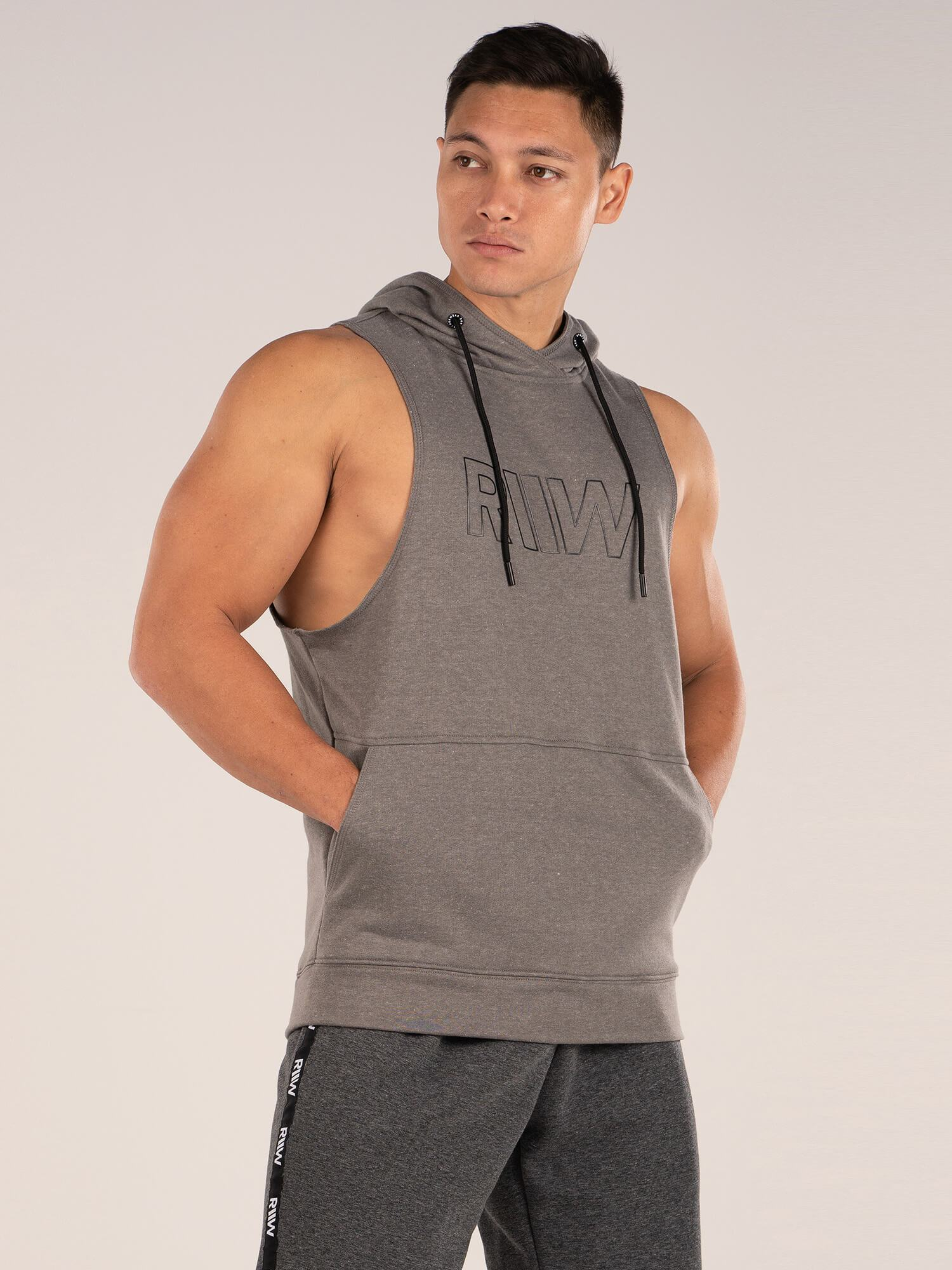 Ryder Wear Royal Sleeveless Hoodie - Charcoal
