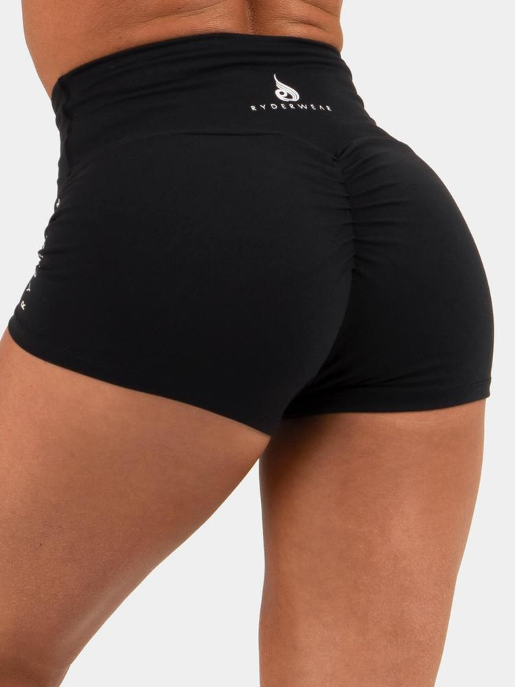 Ryderwear Animal Scrunch Shorts - Black
