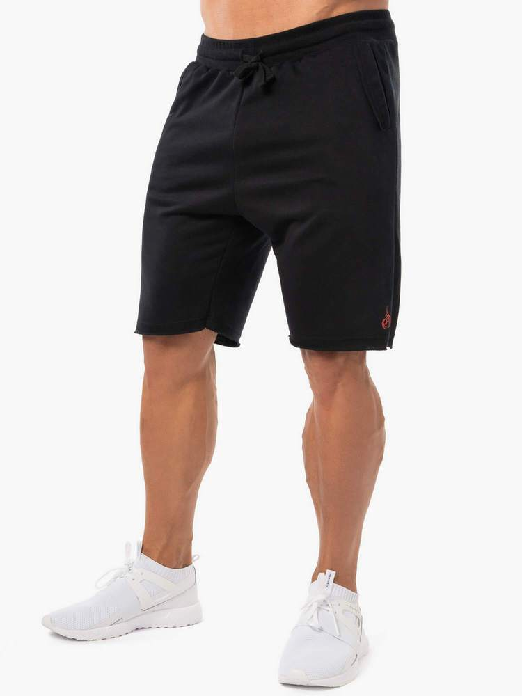 Ryderwear Block Fleece Shorts - Black
