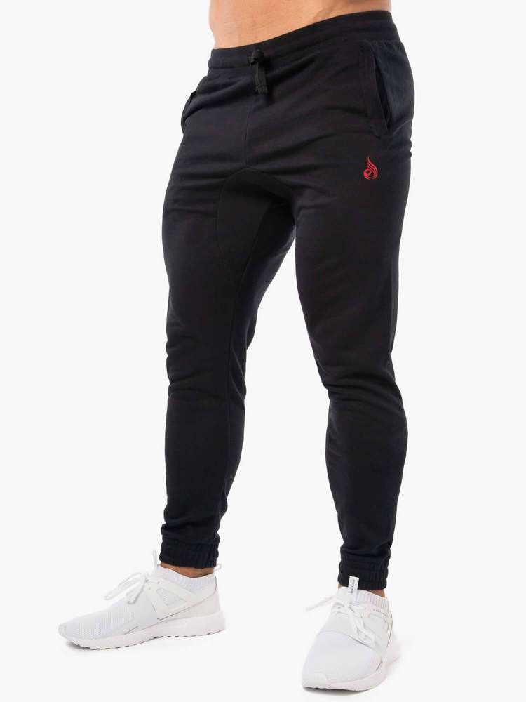 Ryderwear Block Fleece Trackpants - Black
