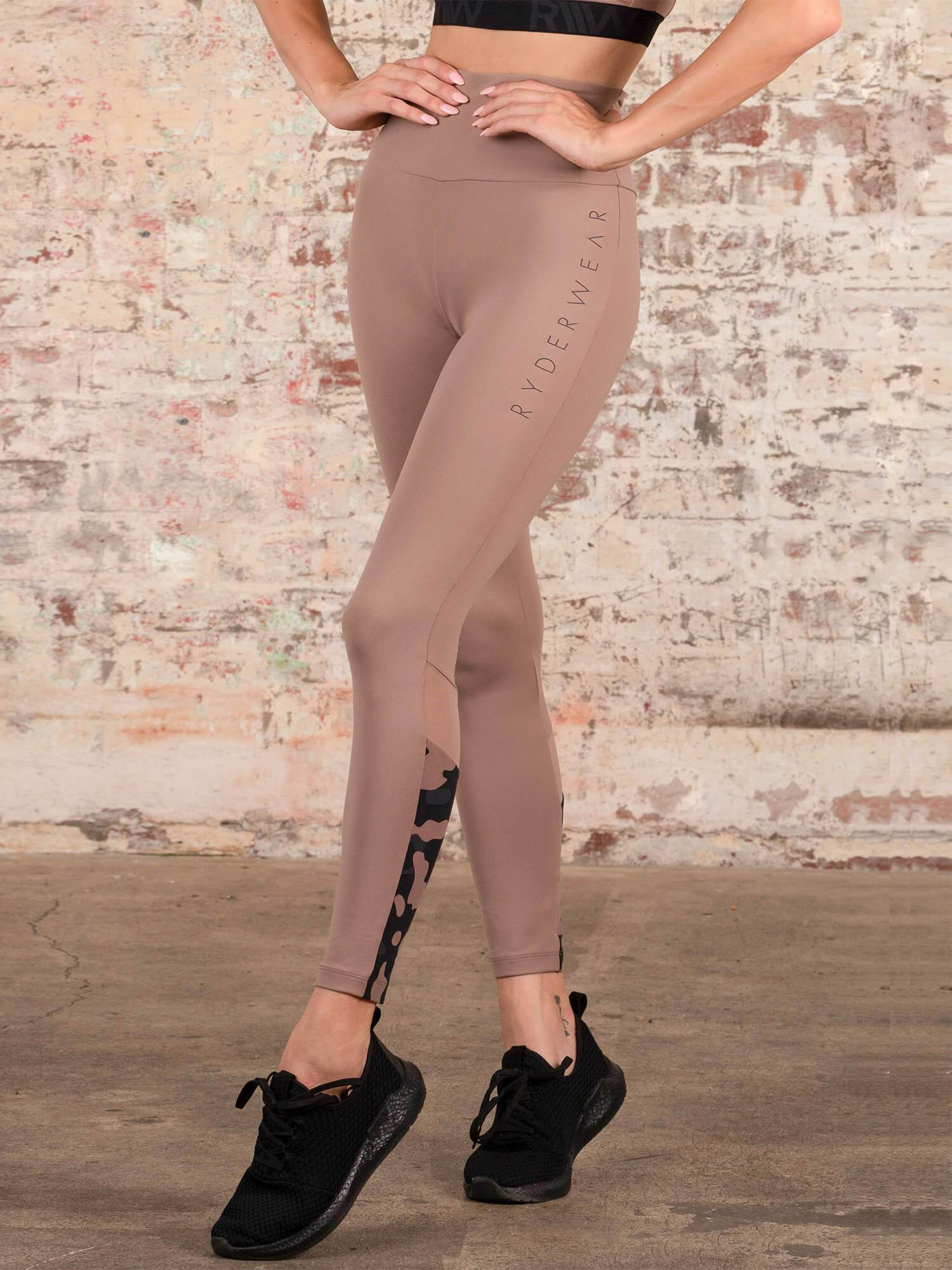 Ryderwear Camo High Waisted Leggings - Rose Taupre