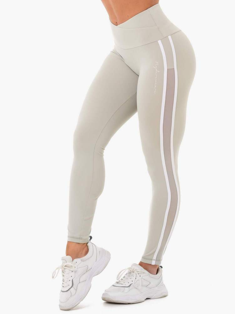 Ryderwear Collide High Waisted Leggings - Sage Green