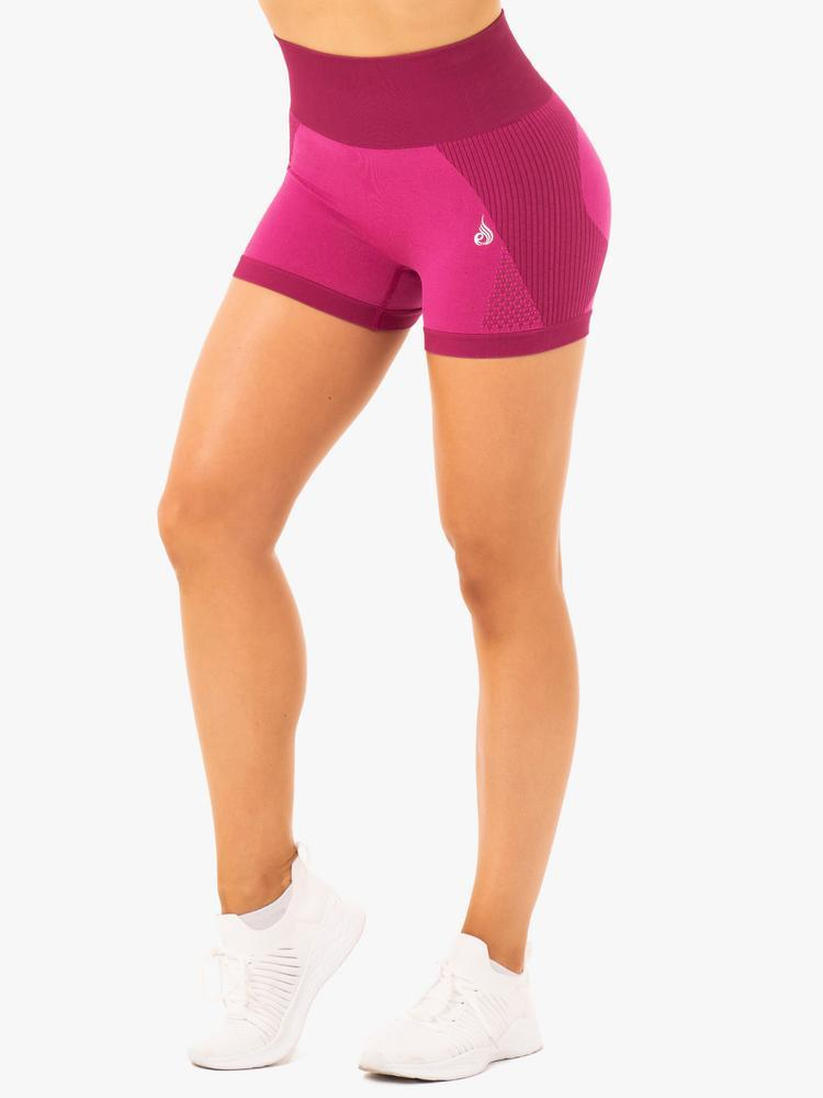 Ryderwear Electra Seamless Shorts - Electric Pink
