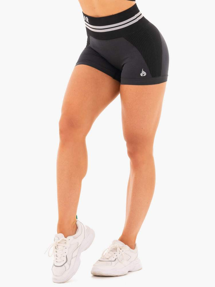 Ryderwear Freestyle High Waisted Seamless Shorts - Black