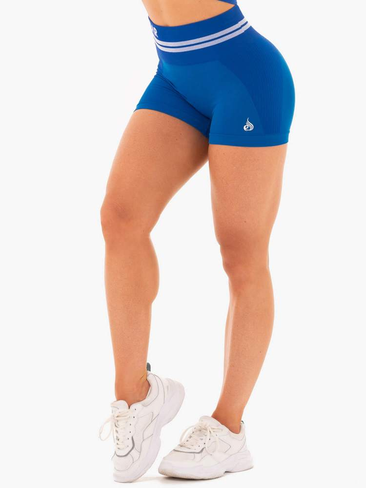 Ryderwear Freestyle High Waisted Seamless Shorts - Blue