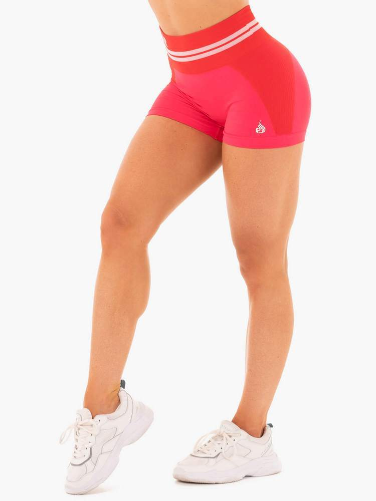 Ryderwear Freestyle High Waisted Seamless Shorts - Red