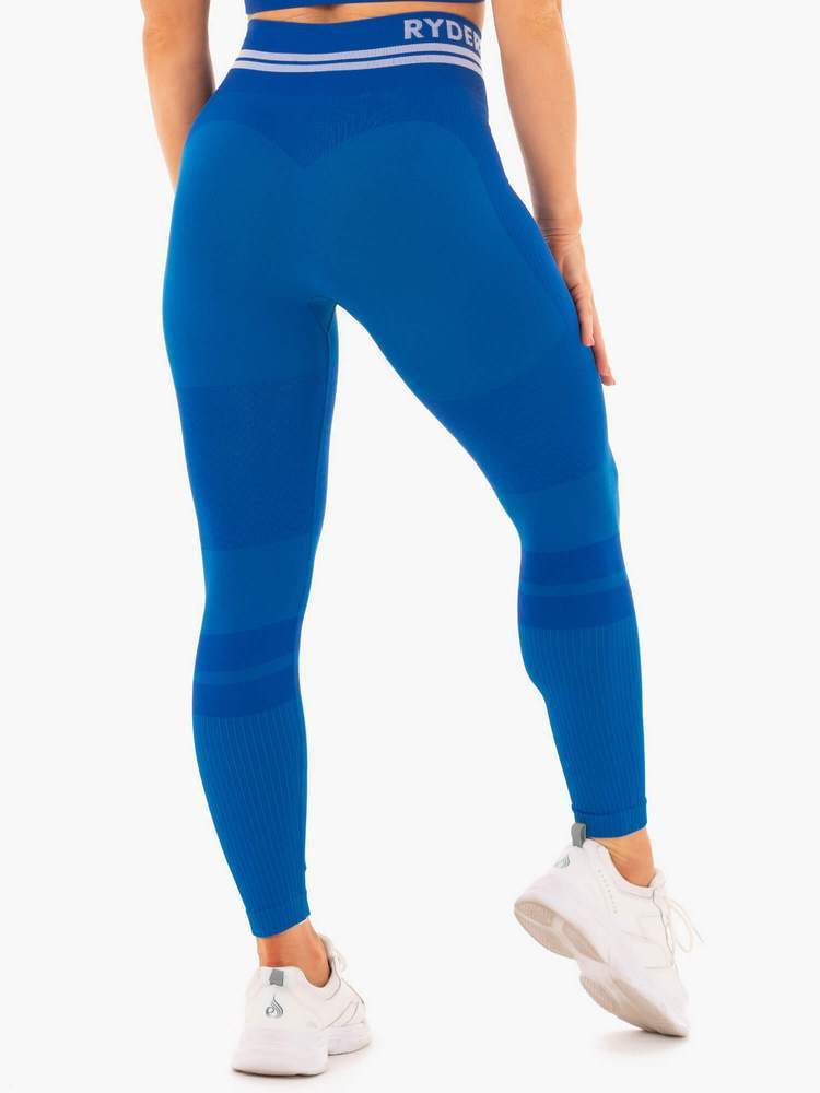 Ryderwear Freestyle Seamless High Waisted Leggings - Blue