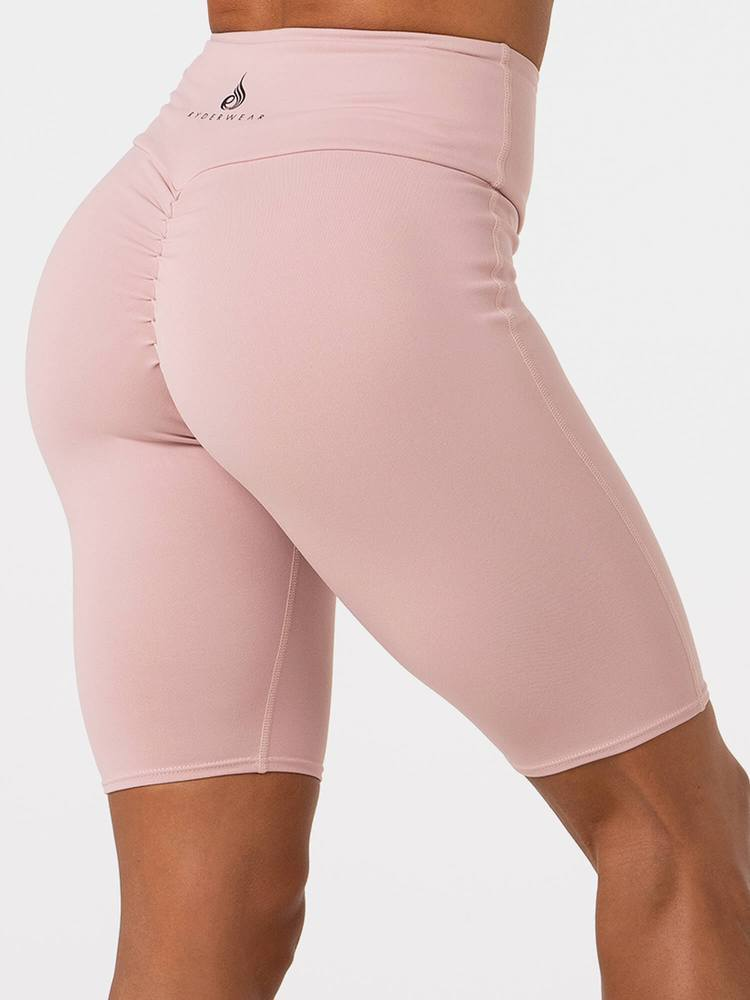 Ryderwear Neonude Scrunch Bum Bike Shorts - Nude Pink