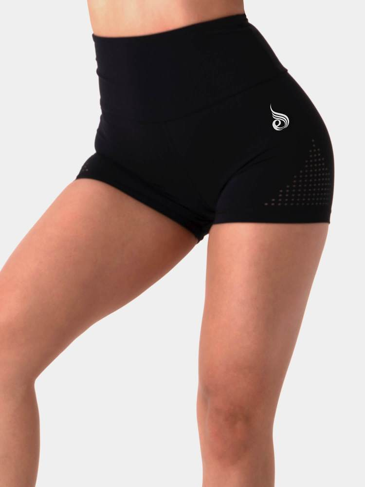 Ryderwear Pastels High Waisted Booty Shorts - Black