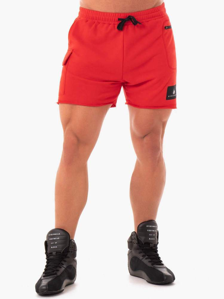 Ryderwear Power Track Shorts - Red