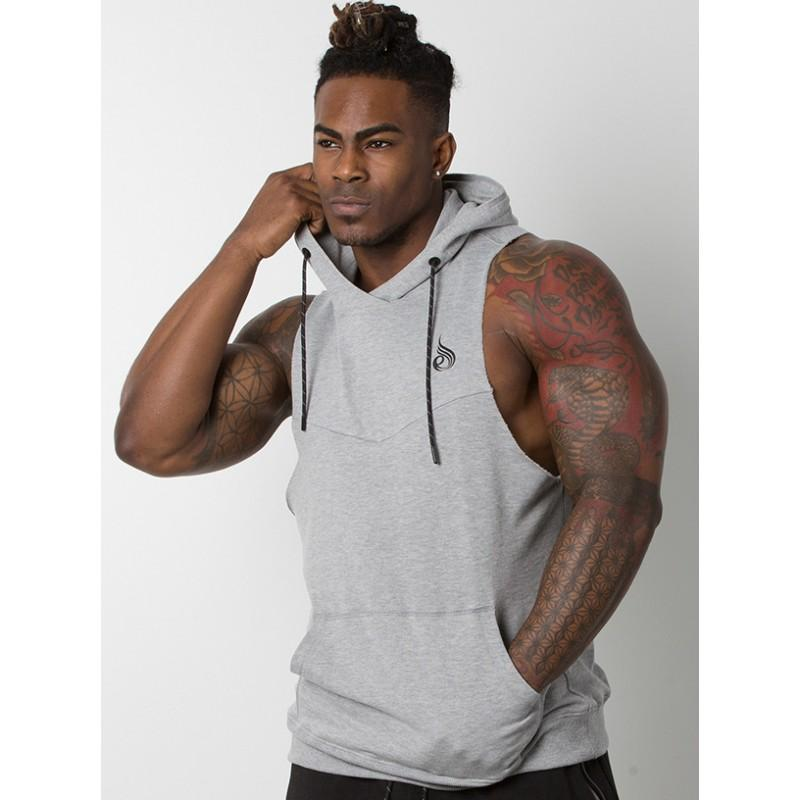 Ryderwear Pump Sleeveless Hoodie - Grey