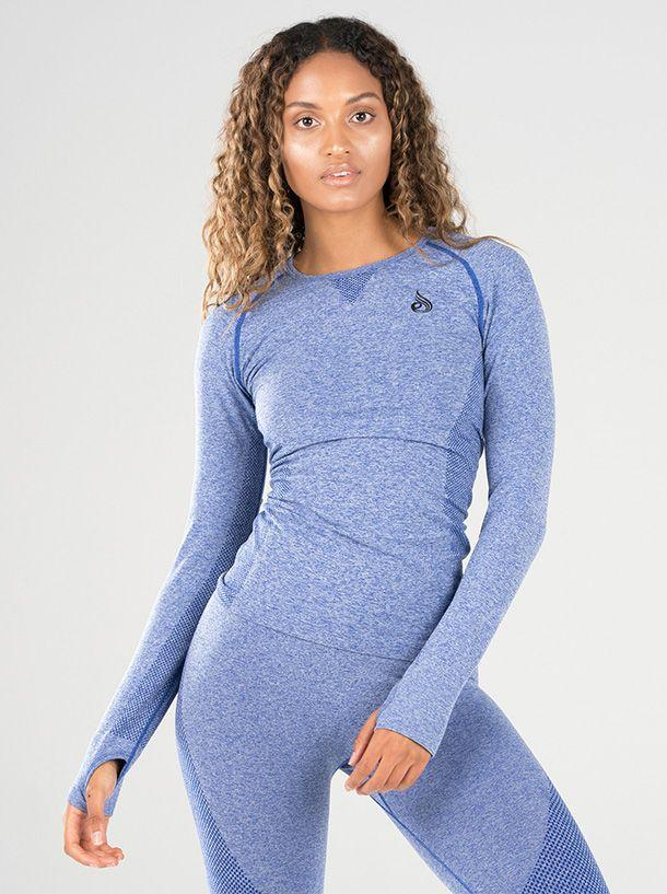 Ryderwear Seamless Long Sleeve Top - Blue Marle