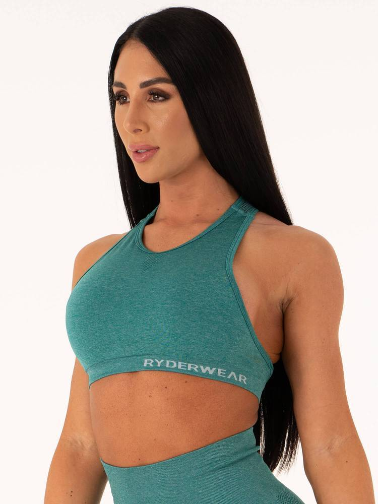 Ryderwear Seamless Sports Bra - Emerald Marl