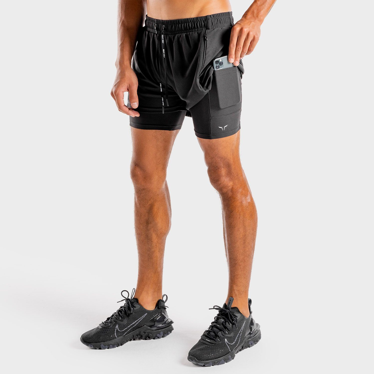 Squat Wolf 2-in-1 Hybrid Shorts - Full Onyx