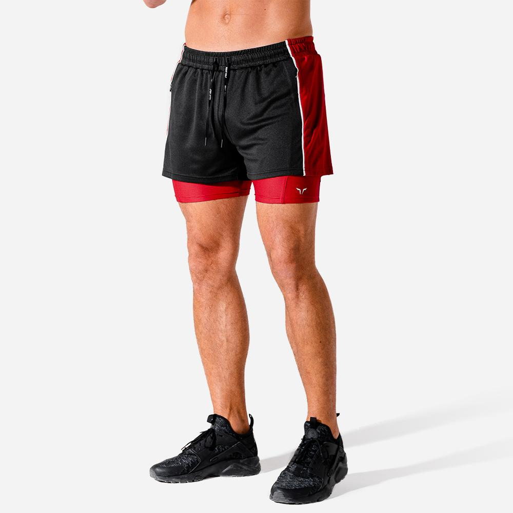 Squat Wolf 2-in-1 Hybrid Shorts - Onyx