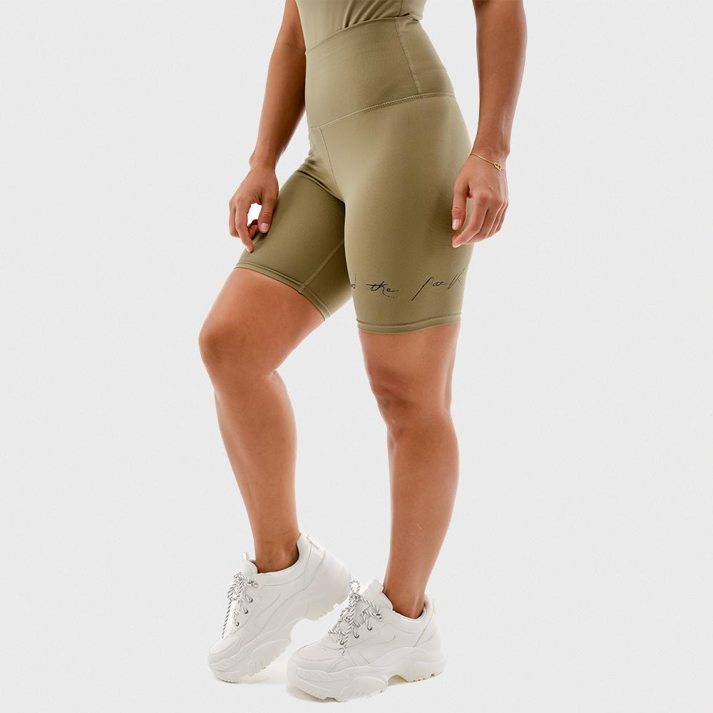 Squat Wolf Bike Shorts - Khaki