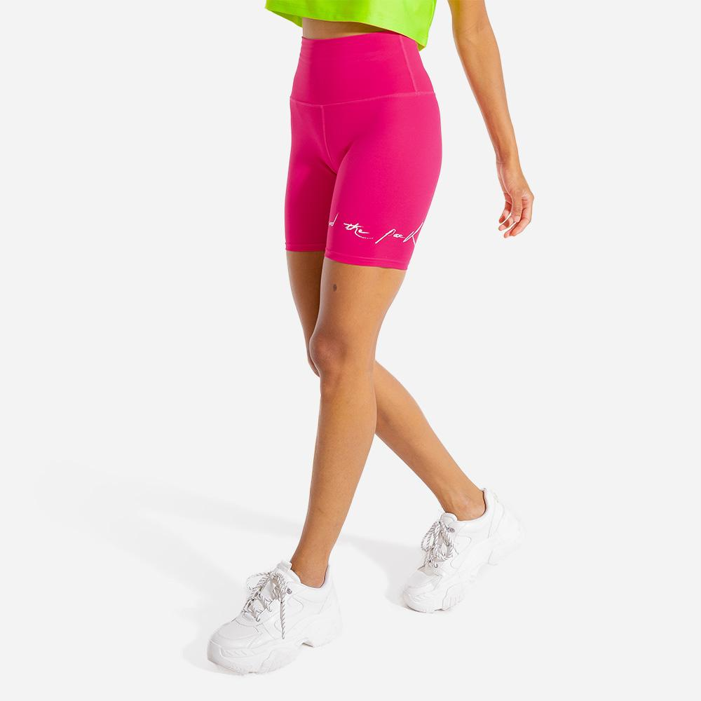 Squat Wolf Bike Shorts - Magenta