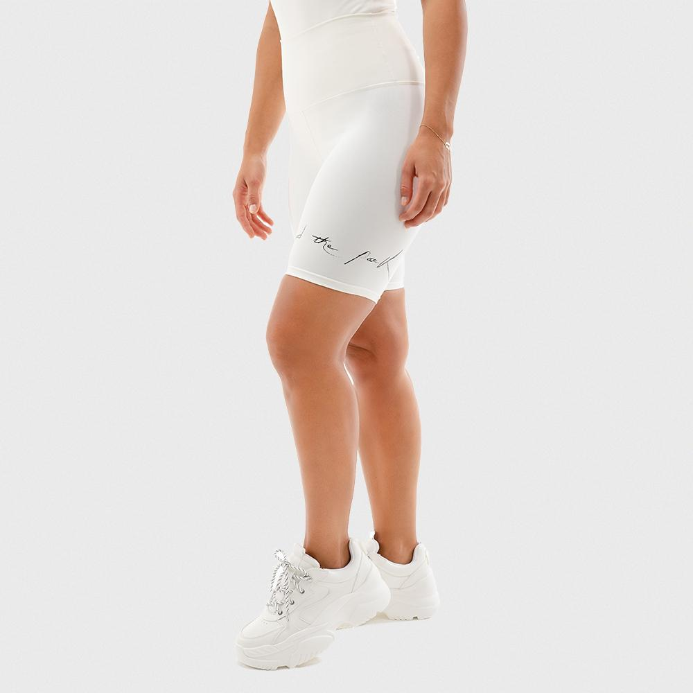 Squat Wolf Bike Shorts - White