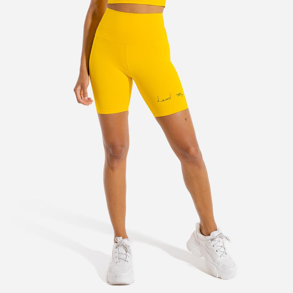 Squat Wolf Bike Shorts - Yellow