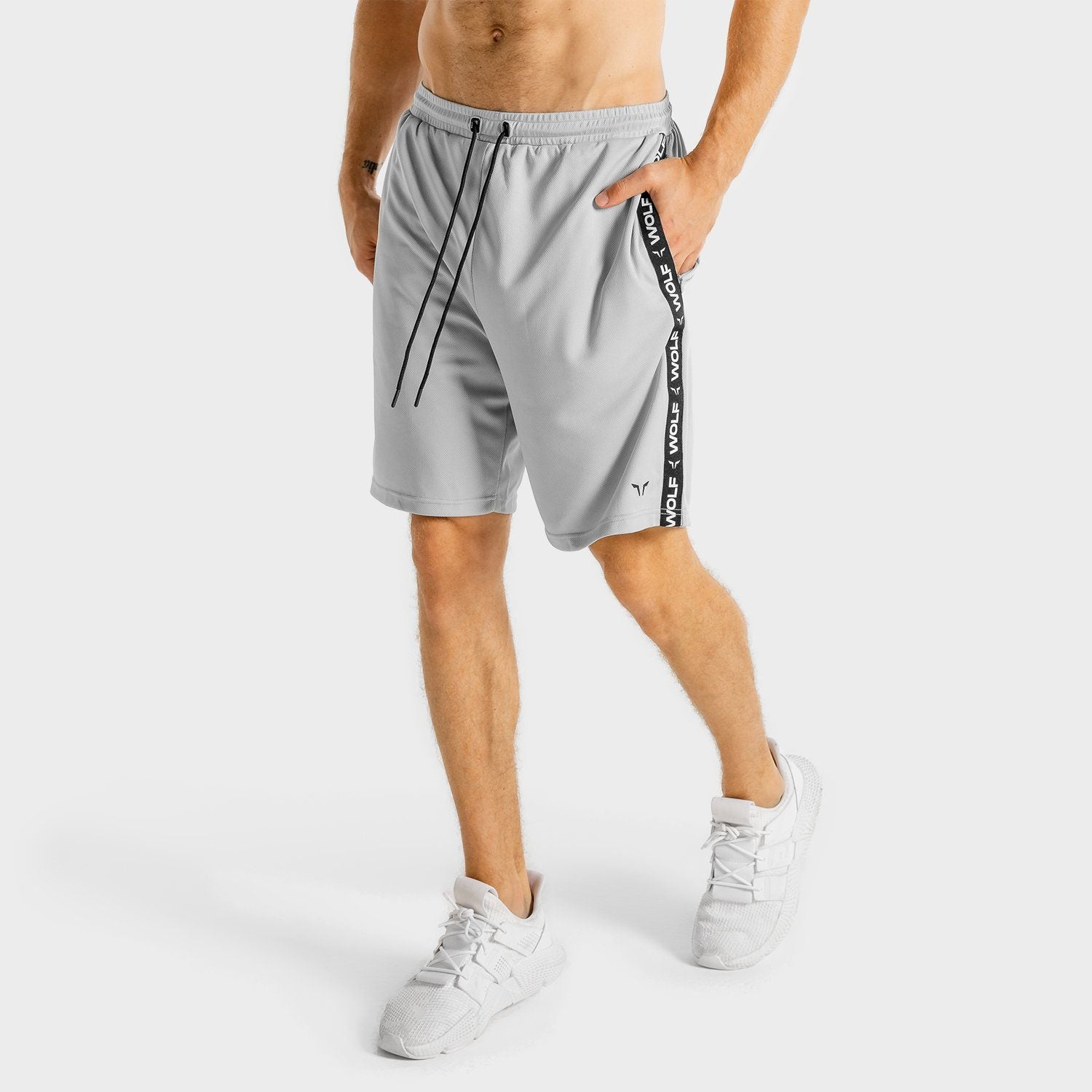Squat Wolf Core Basketball Shorts - Grey