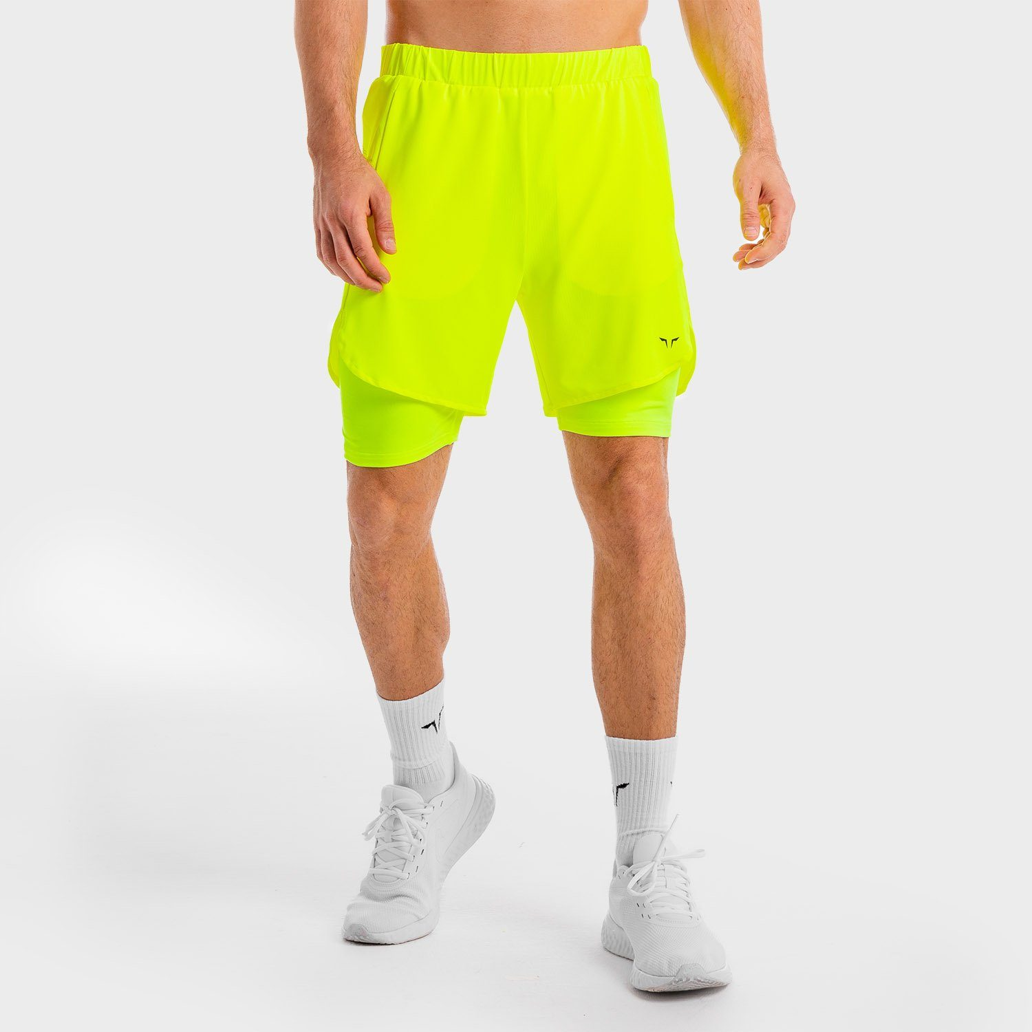 Squat Wolf Core Mesh 2-in-1 Shorts – Neon