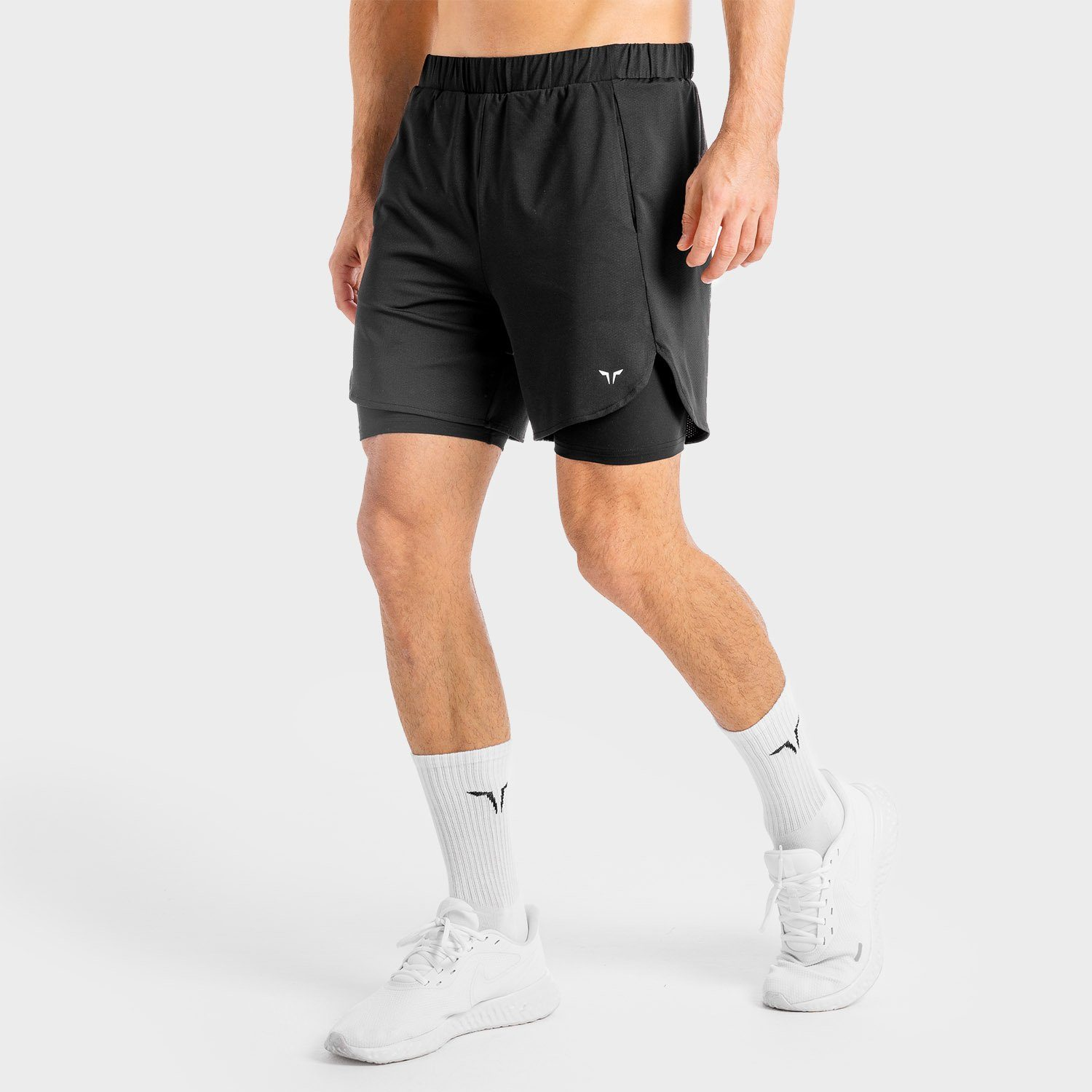 Squat Wolf Core Mesh 2-in-1 Shorts – Onyx