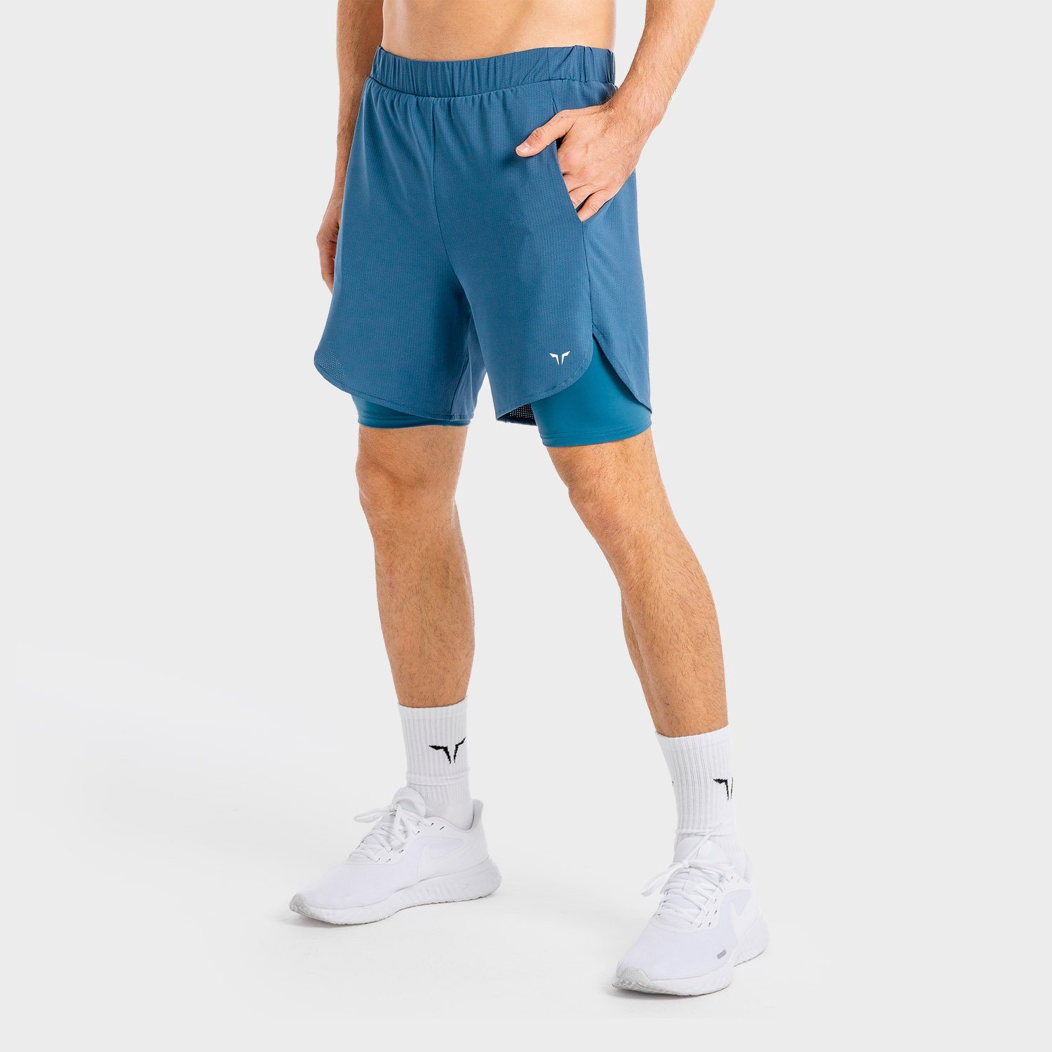 Squat Wolf Core Mesh 2-in-1 Shorts – Slate