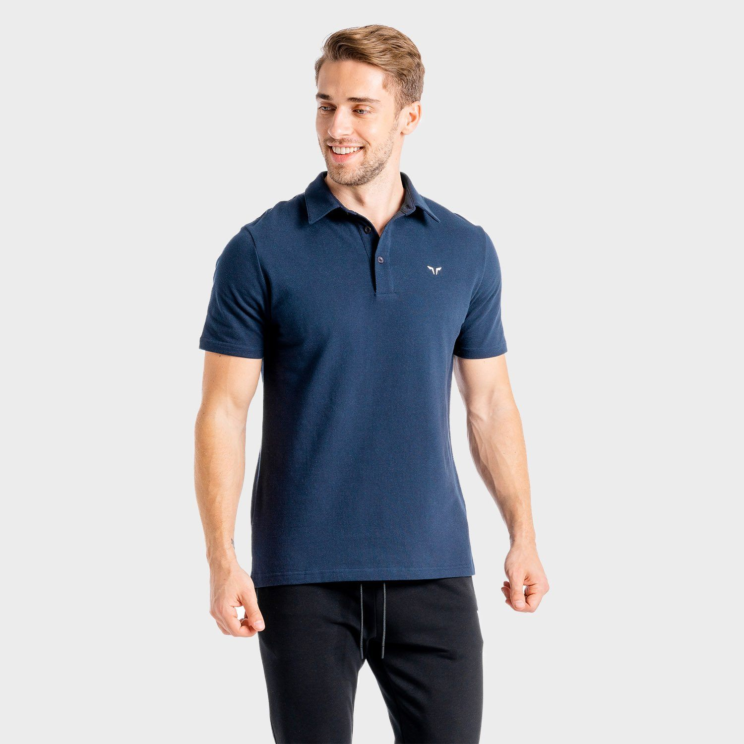 Squat Wolf Core Polo – Navy
