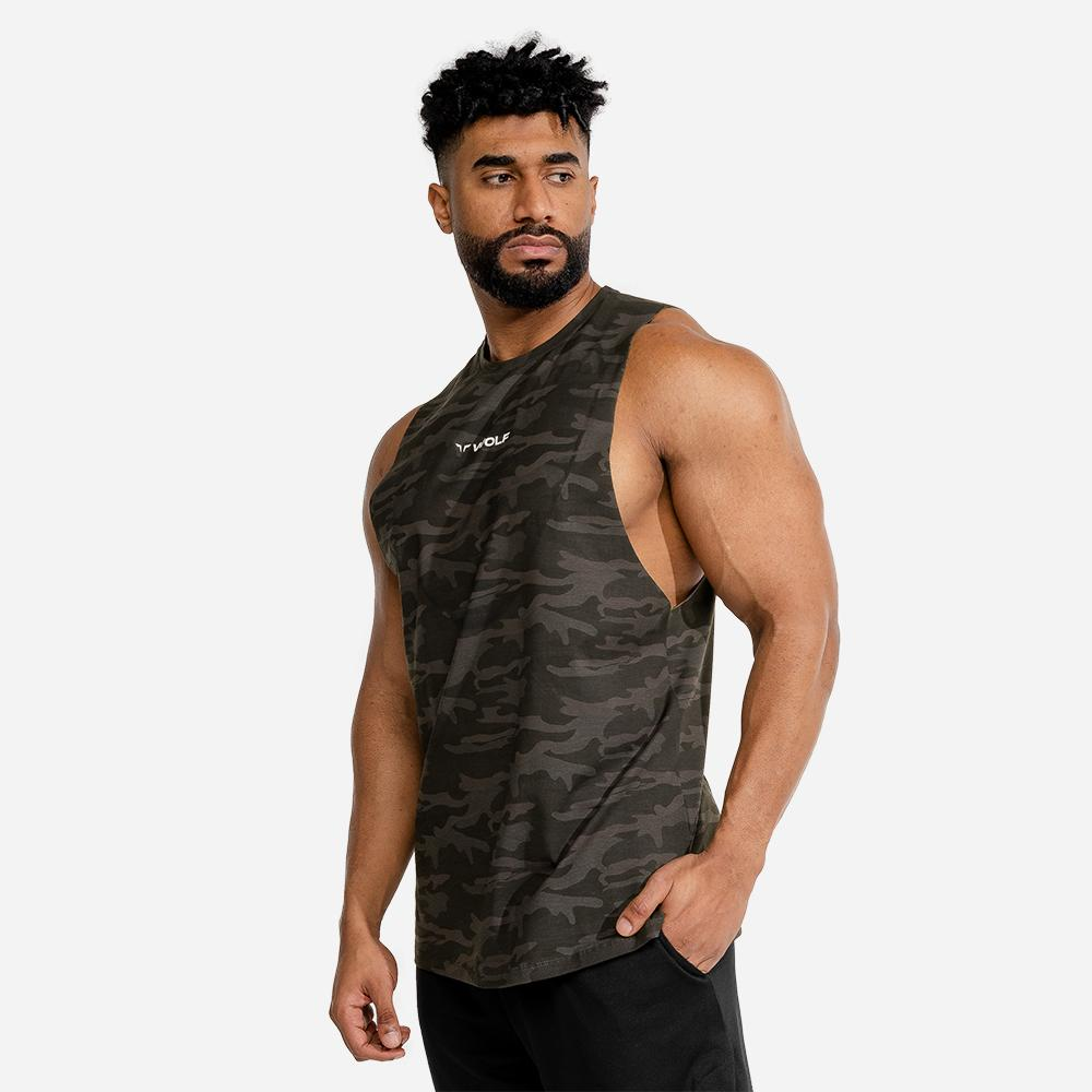 Squat Wolf Evolve Gym Tank - Camo