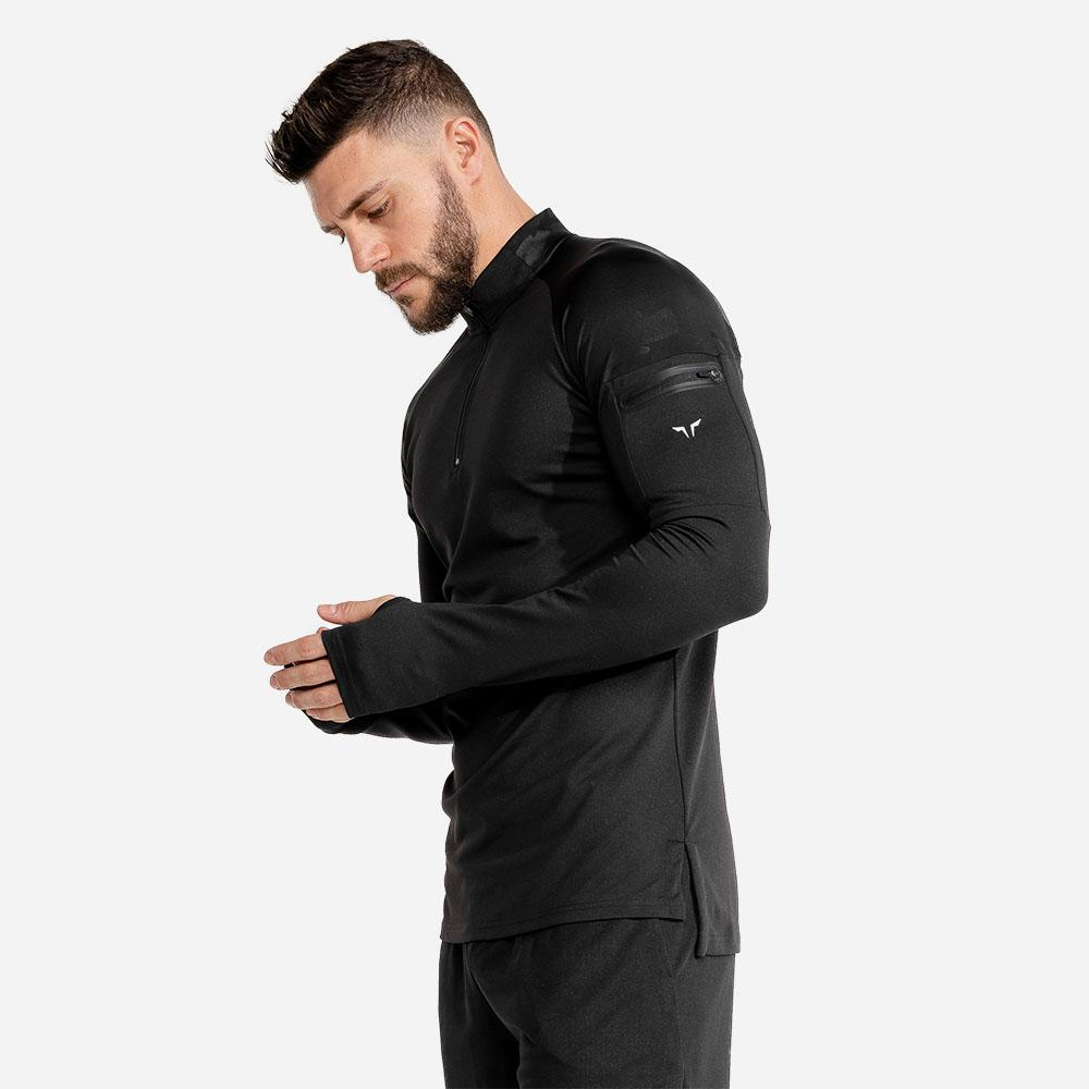 Squat Wolf Evolve Running Top - Black