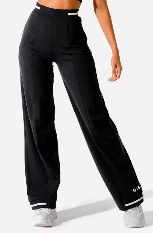 Squat Wolf Hybrid Wide Leg Pants - Black