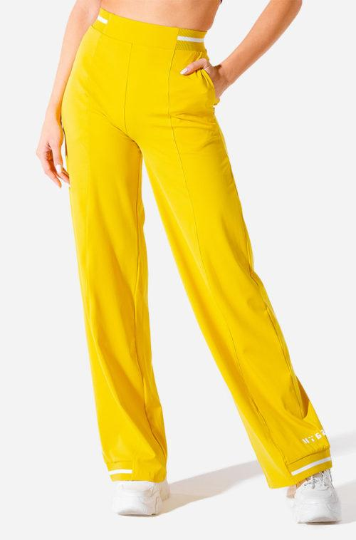 Squat Wolf Hybrid Wide Leg Pants - Yellow