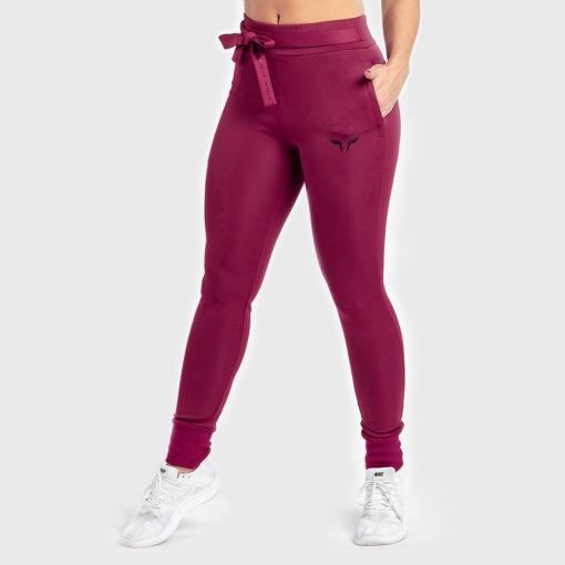 Squat Wolf Knot Joggers - Cherry