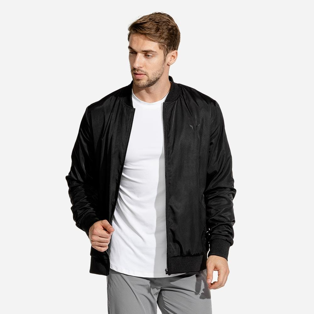 Squat Wolf Limitless Bomber Jacket - Black