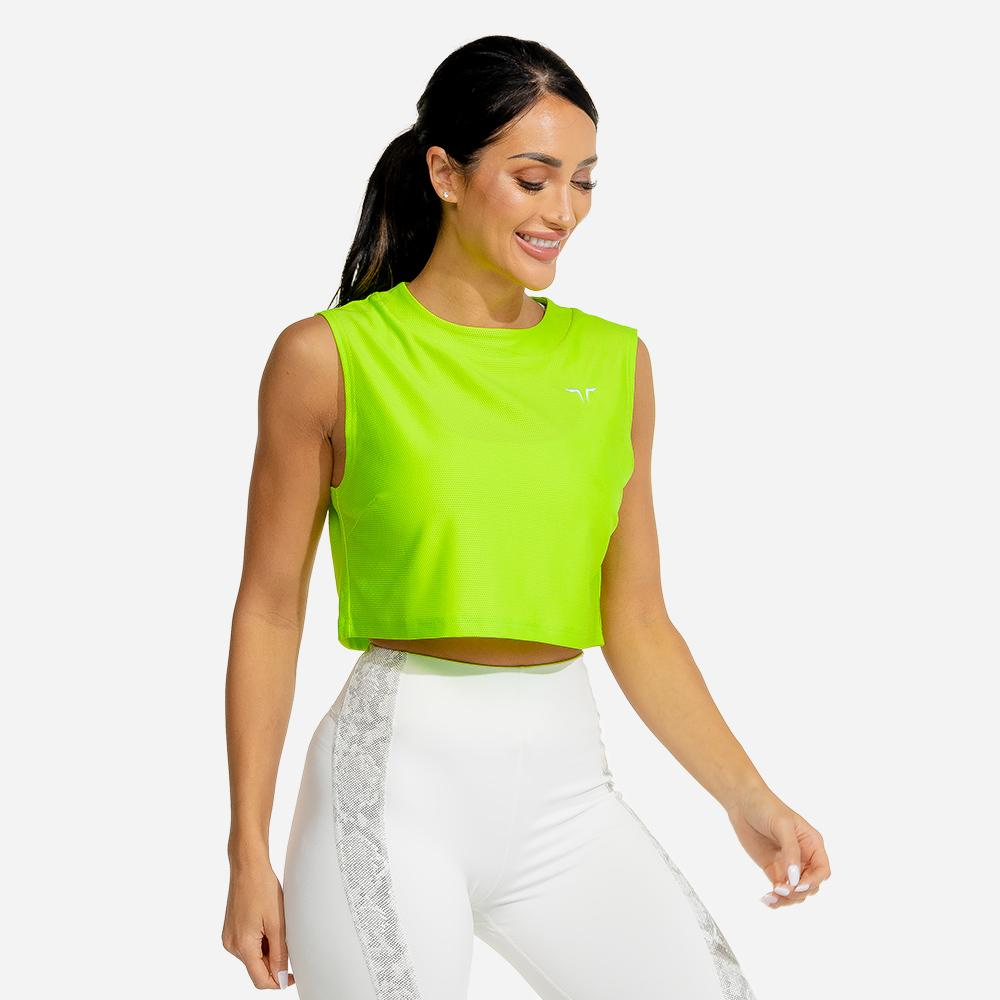 Squat Wolf Limitless Crop Top - Neon
