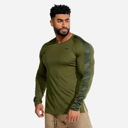 Squat Wolf Limitless LS Tee - Olive