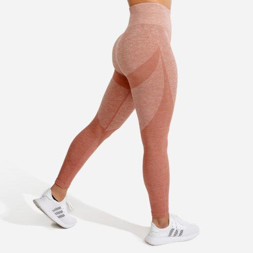 Squat Wolf Marl Seamless Leggings - Rose Gold