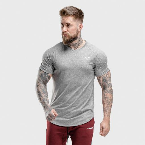 Squat Wolf Melange Tee - Grey