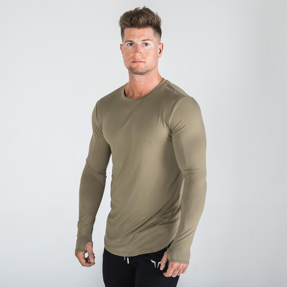 Squat Wolf Mens Muscle Tee - Olive