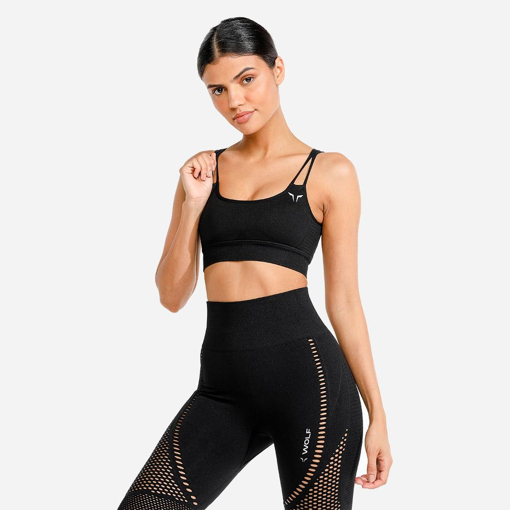 Squat Wolf Meta Sports Bra - Black