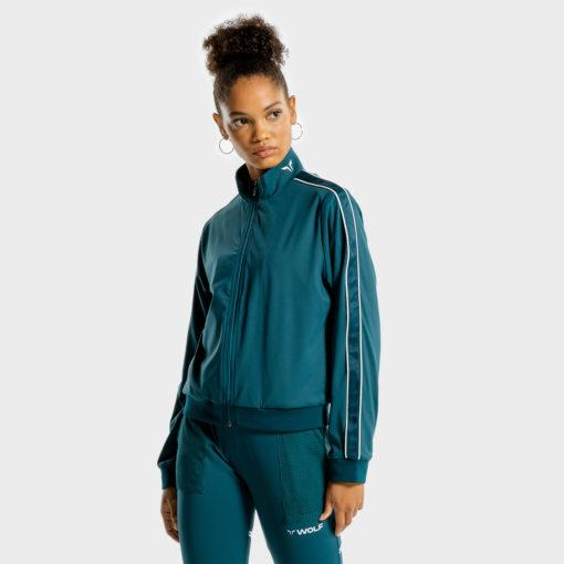 Squat Wolf Noor Track Top - Teal
