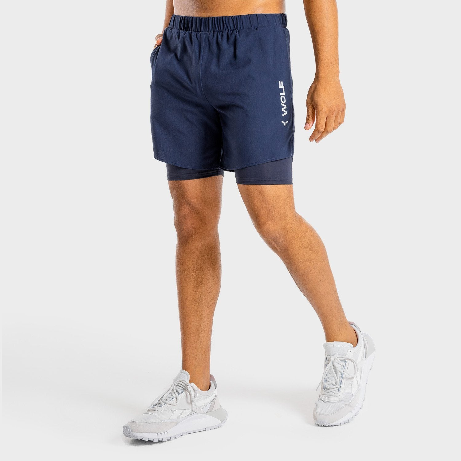 Squat Wolf Primal 2-in-1 Shorts – Navy