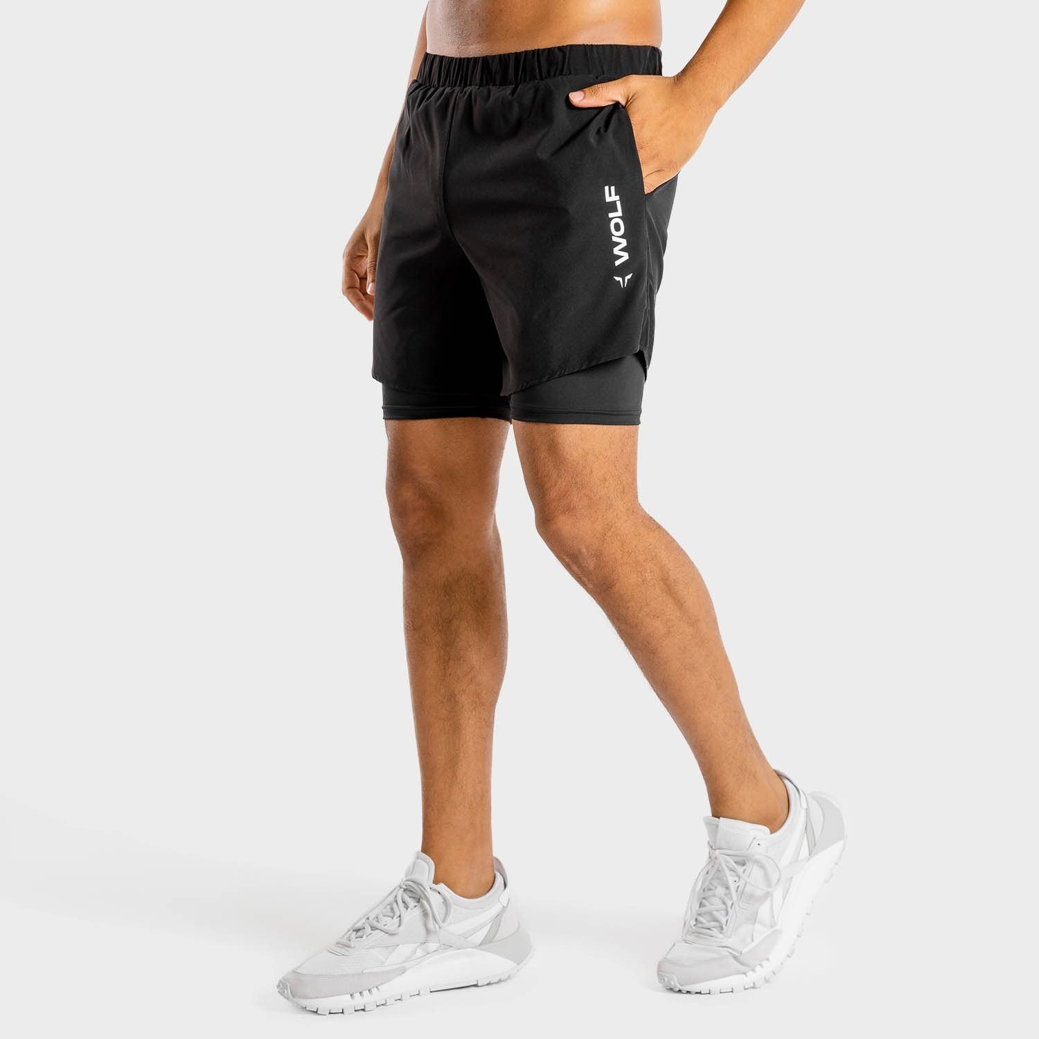 Squat Wolf Primal 2-in-1 Shorts – Onyx