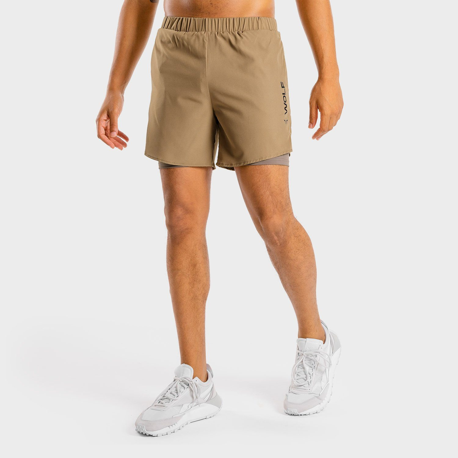 Squat Wolf Primal 2-in-1 Shorts – Taupe