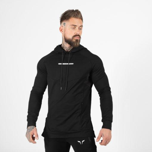 Squat Wolf Statement Hoodie - Black