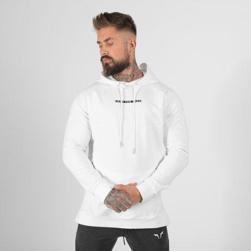 Squat Wolf Statement Hoodie - White