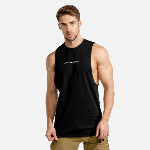 Squat Wolf Statement Stringer - Black