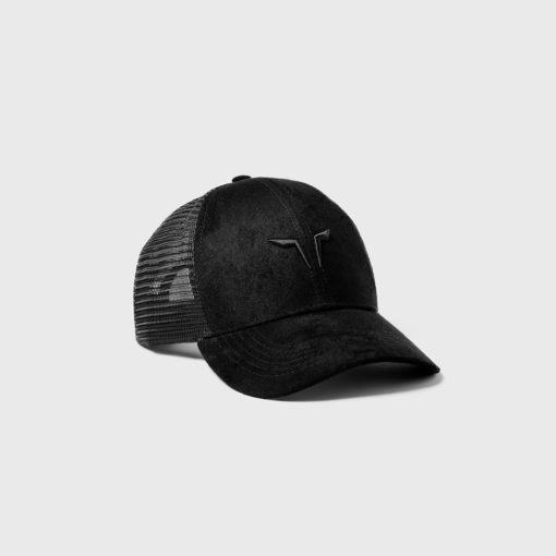 Squat Wolf Trucker Cap - Black