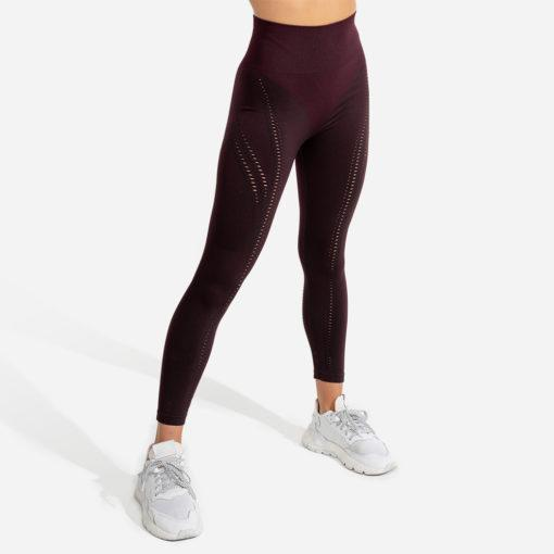 Squat Wolf Ultra Seamless Leggings - Burgundy